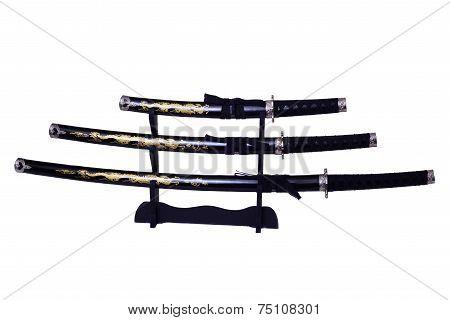 Samurai Swords Isolated