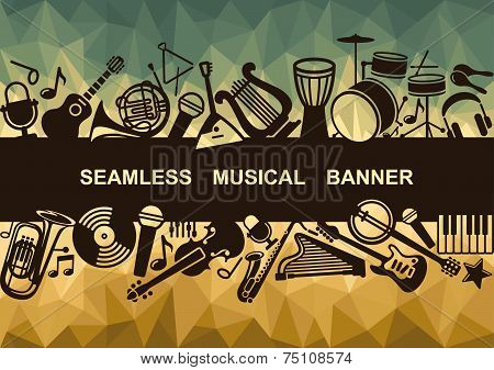 Seamless musical banner