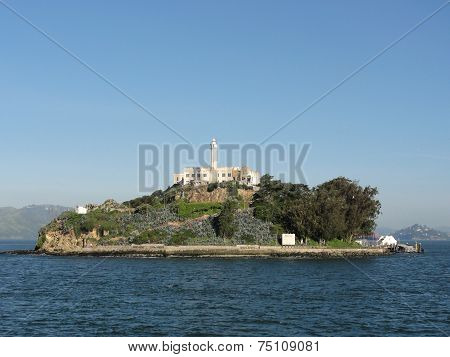 Alcatraz Island On A Nice Day
