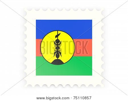 Postage Stamp Icon Of New Caledonia