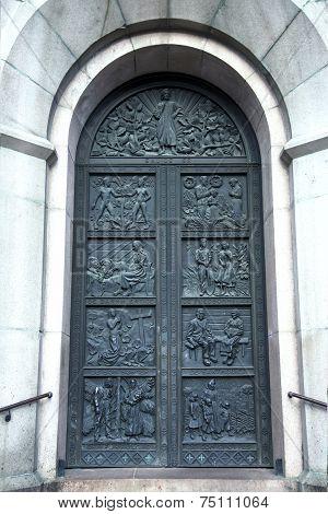 Ancient ornate door