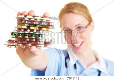 Medication In The Hand