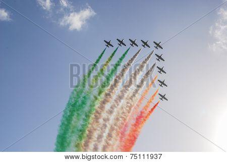 The Italian demonstration team Frecce Tricolori