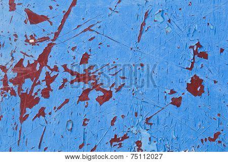 Grungy Blue Peeling Paint