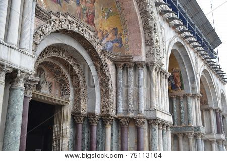 Colonnade Of The Basilica Di San Marco