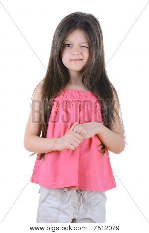 Little Girl Winks