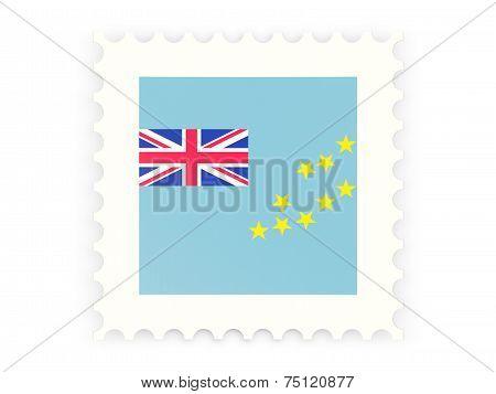 Postage Stamp Icon Of Tuvalu
