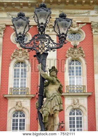 Lantern In Front Of Sans Souci Palace, Potsdam, Germany