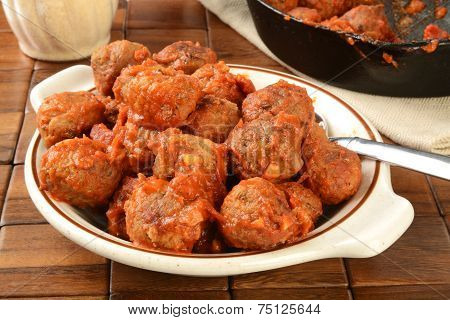Bowl Of Italian Meatballs