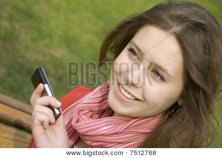 Beautiful Woman & SMS