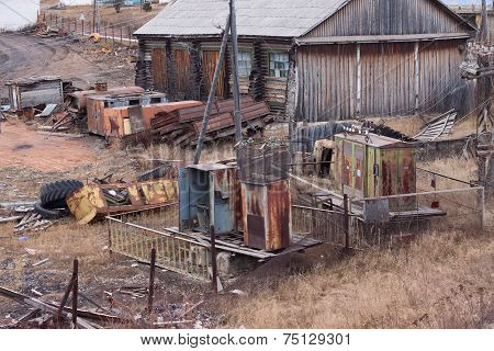 Old Rusty Electric Substation