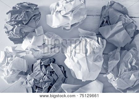 crumpled paper with different colors