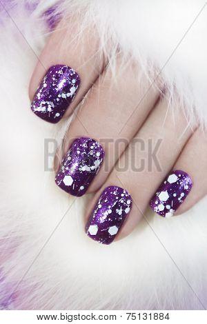Lilac nail Polish.