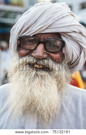 Hindu Pilgrim in Haridwar, India.