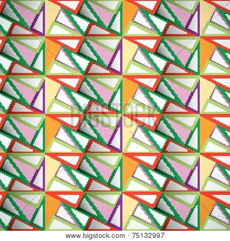 Abstract optic effect colorful triangle pattern background. Vector file layered for easy manipulatio
