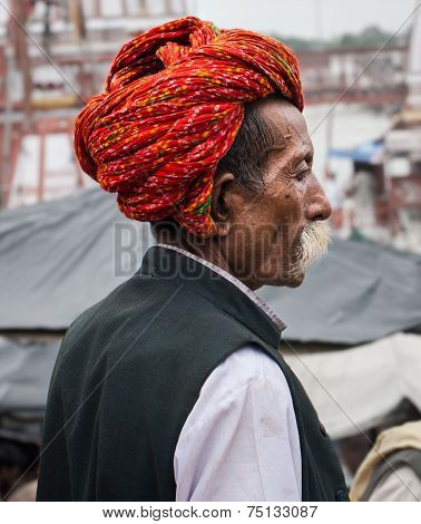 A Hindu Pilgrim in Haridwar, India.
