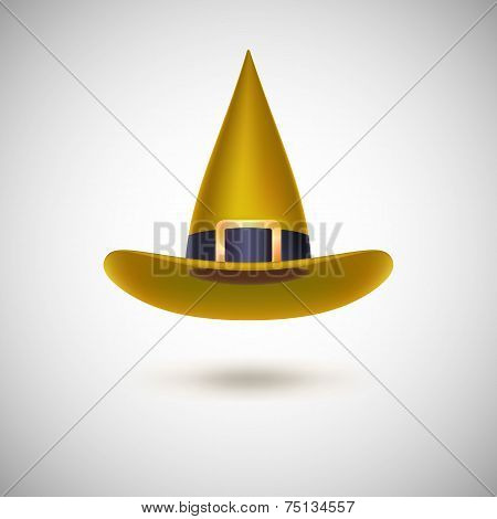 Yellow witch hat for Halloween.