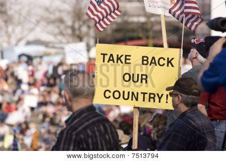 Take back our country sign.