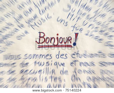 french word for good morning - Bonjour