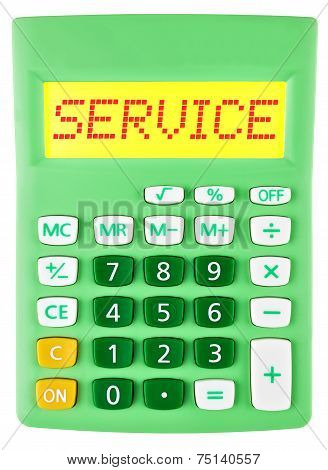Calculator With Service On Display Isolated