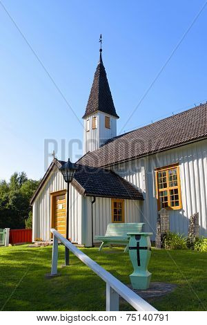 St.andrew`s Church In Aland Islands.