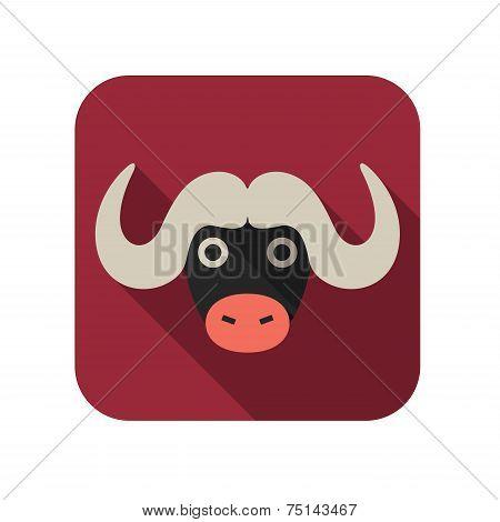 Buffalo animal flat icon