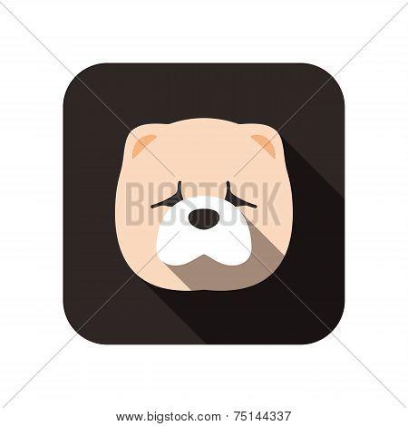 Chow Chow animal flat icon