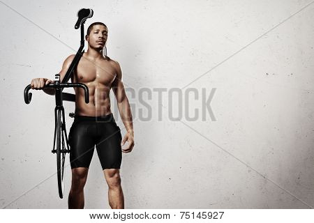 Athlete With Bicycle