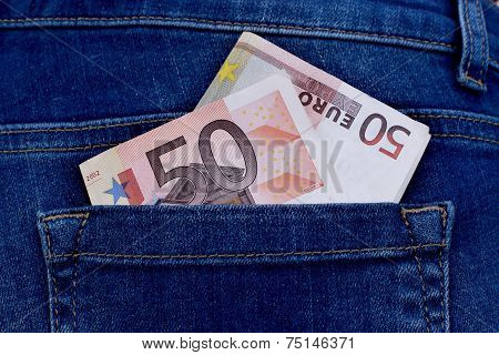 Money In Trouser Pocket