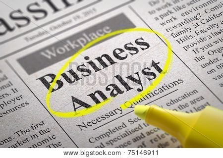 Business Analyst Vacancy in Newspaper.