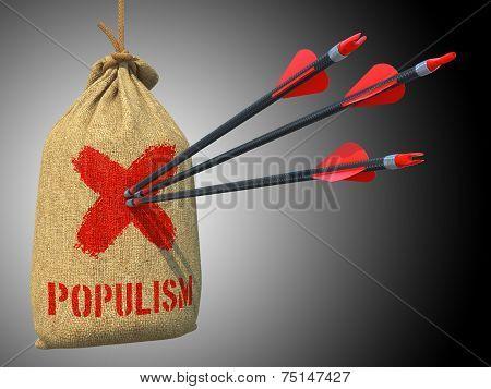 Populism - Arrows Hit in Red Target.