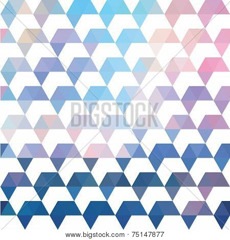 Pattern Of Geometric Shapes. Colorful Mosaic Backdrop. Geometric Retro Background