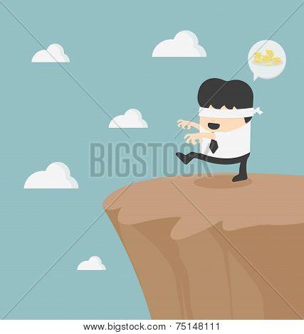 Concept Of Problem In Blindfolded Businessman