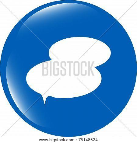 Speech Bubble Web App Button Icon