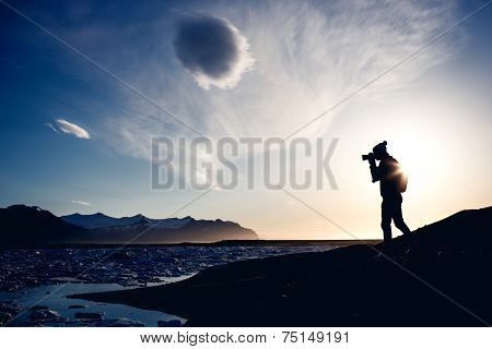 Photographer make picture, Iceland