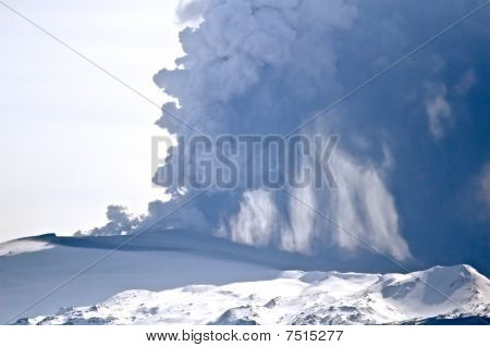 Eyjafjallajokull volcano and ash cloud