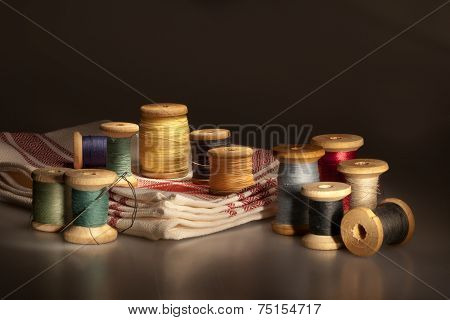 Still Life With Thread Spools