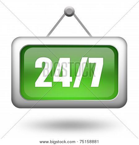 Open twenty four hour sign
