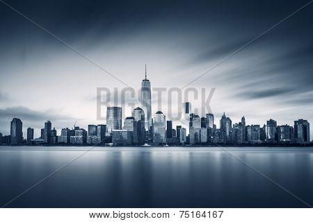 New York City Lower Manhattan with new One World Trade Center