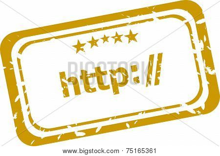 Http Rubber Stamp Over A White Background