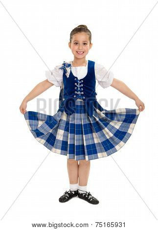 Smiling Irish Highland Dancer