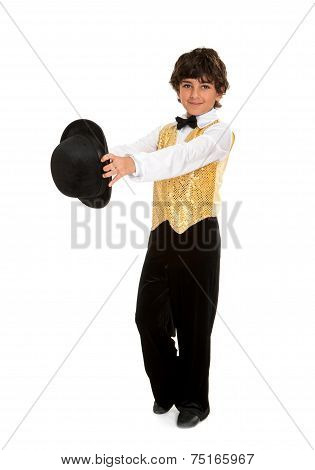 Boy Tap Dancer Strutting