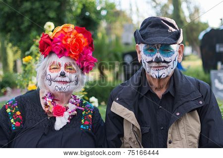 Unknown People At The 15Th Annual Day Of The Dead Festival