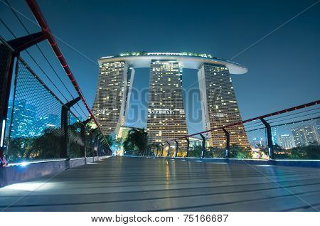 Marina Bay Sands At Night.