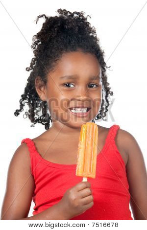 Child Girl Eating Ice Cream
