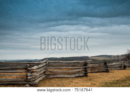 Stacked Rail Fence Along Blue Ridge Parkway