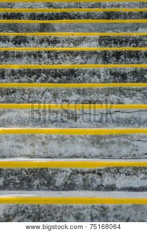 Stone Stairs With Yellow Riser Markings