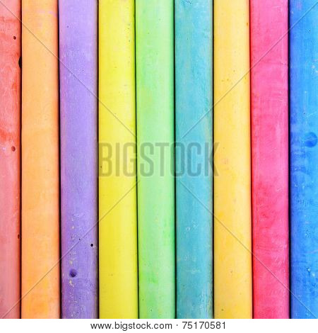 Closeup Colorful Chalk Use For Abstract Background