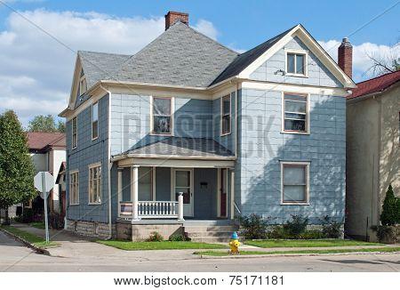 Blue House on Corner