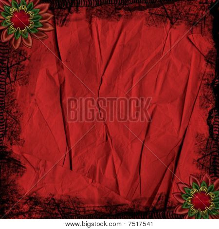 Red Crinkled Paper